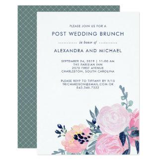 Und Posten-Hochzeits-Brunch der Marine-erröten 12,7 X 17,8 Cm Einladungskarte