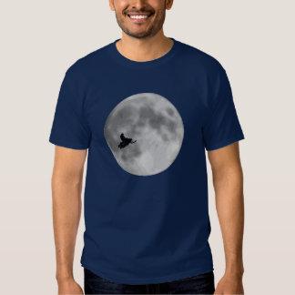 """""""UND"""" Schlitten-und Mond-Marine-Blau Sledders.com Shirt"""