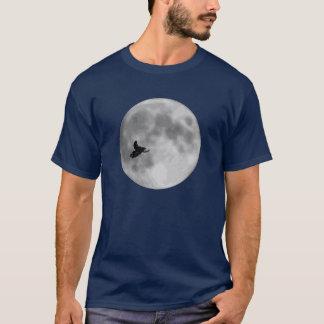 """""""UND"""" Schlitten-und Mond-Marine-Blau Sledders.com T-Shirt"""