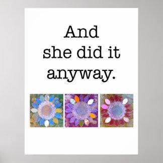 Und sie tat es irgendwie Plakat