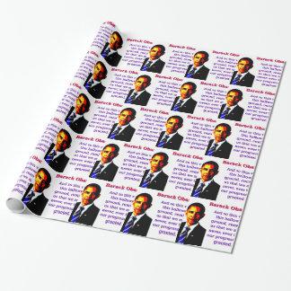 Und so dieser Besuch - Barack Obama Geschenkpapier