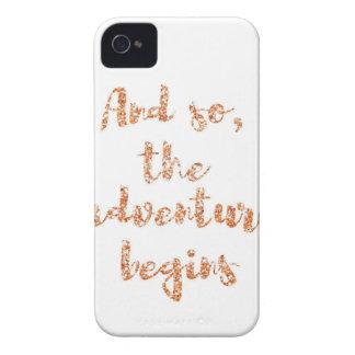 Und so, fängt das Abenteuer - Reiseinspiration an iPhone 4 Case-Mate Hülle