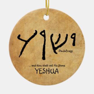 "… und Tausend shalt Anruf sein Namens""Yeshua Keramik Ornament"