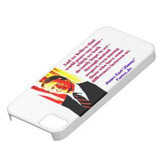 Und wir glauben diesem Weltfrieden - Jimmy Carter Barely There iPhone 5 Hülle