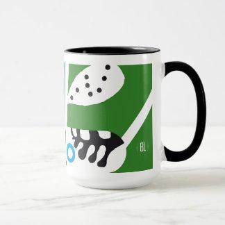 underground whiter City map4- mug-black handle Tasse