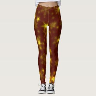 Undeutliche Sterne golden Leggings