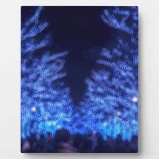 Undeutliche Winter-Beleuchtung Fotoplatte