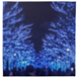 Undeutliche Winter-Beleuchtung Serviette