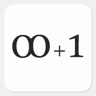 Unendlichkeit plus eine quadratischer aufkleber