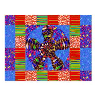 UNENDLICHKEIT Symbol-Kunst quadriert Runden-Wellen Postkarte