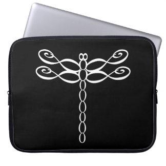 Unendlichkeits-Libellenweiß Laptop Sleeve