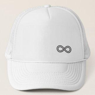 Unendlichkeits-Logo - weißer Fernlastfahrer-Hut Truckerkappe
