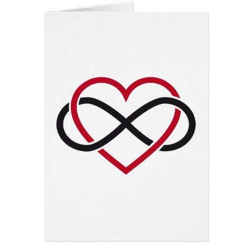 Unendlichkeitsherz, immer währende Liebe Karte