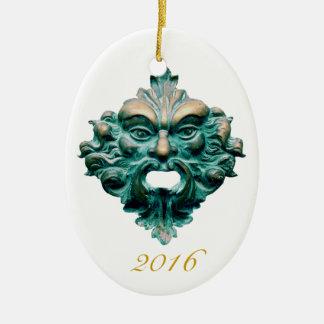 Unerfahrener Mitarbeiter auf Oval u. 2016 - Keramik Ornament