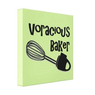 Unersättlicher Bäcker - lustige Küchen-Zeichen Leinwanddruck