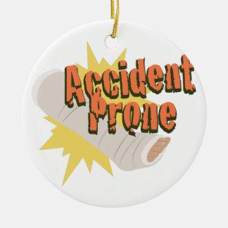 Unfall-vornübergeneigtes Bein Keramik Ornament