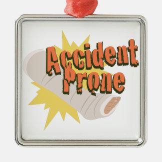 Unfall-vornübergeneigtes Bein Silbernes Ornament