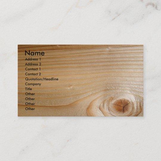 Unfertiges Holz Visitenkarte Zazzle De