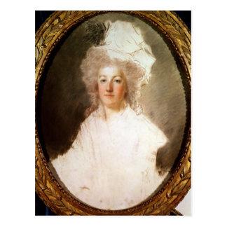 Unfertiges Porträt von Marie-Antoinette Postkarte
