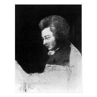 Unfertiges Porträt von Wolfgang Amadeus Mozart Postkarte
