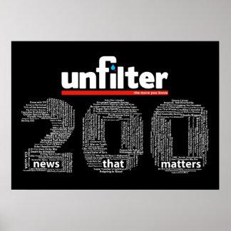 Unfilter 200 Plakat
