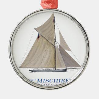 Unfug 1881 silbernes ornament