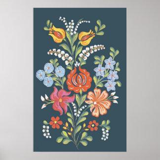 ungarische Blumen Poster