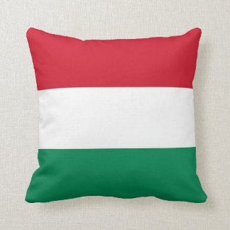 Ungarische Flagge auf Amerikaner MoJo Kissen