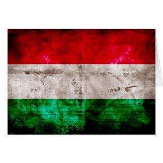 Ungarische Flagge Mitteilungskarte