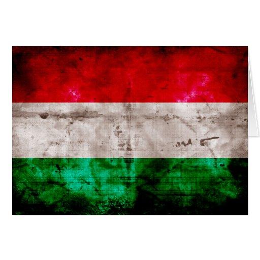 Ungarische Flagge Grußkarten