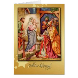 ungarische Karten-Geburt Christi der frohen Karte