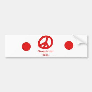 Ungarische Sprache und Friedenssymbol-Entwurf Autoaufkleber