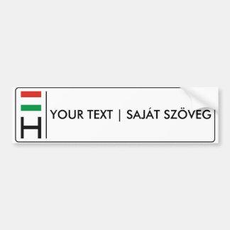 Ungarisches Kfz-Kennzeichen | Magyar rendszámtábla Autoaufkleber