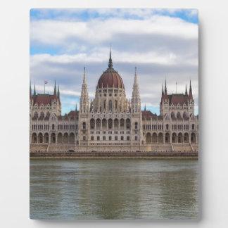 Ungarisches Parlament Budapest bis zum Tag Fotoplatte