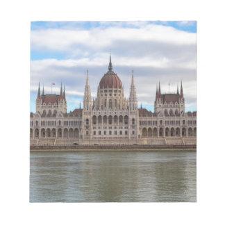 Ungarisches Parlament Budapest bis zum Tag Notizblock