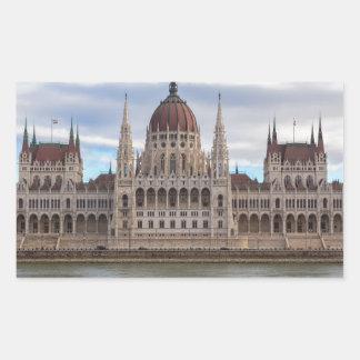 Ungarisches Parlament Budapest bis zum Tag Rechteckiger Aufkleber