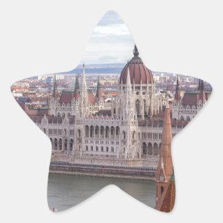 Ungarisches Parlament Budapest bis zum Tag Stern-Aufkleber