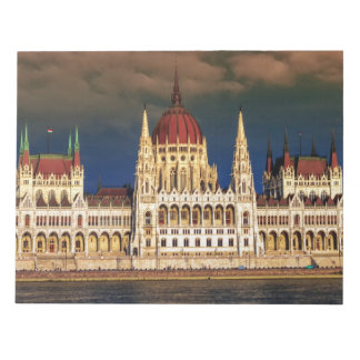 Ungarisches Parlaments-Gebäude in Budapest, Ungarn Notizblock