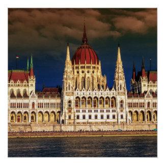 Ungarisches Parlaments-Gebäude in Budapest, Ungarn Poster