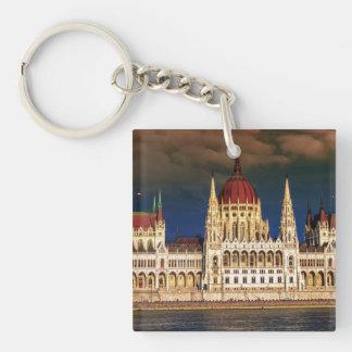 Ungarisches Parlaments-Gebäude in Budapest, Ungarn Schlüsselanhänger