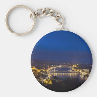 Ungarn Budapest am Nachtpanorama Schlüsselanhänger