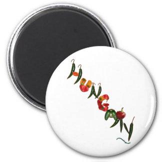 Ungarn-Chili-Paprikaschoten Runder Magnet 5,7 Cm