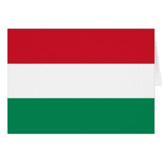 Ungarn-Flagge Grußkarten