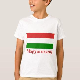 Ungarn-Flagge mit Namen auf Ungarn T-Shirt