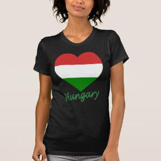 Ungarn-Flaggen-Herz T-Shirt