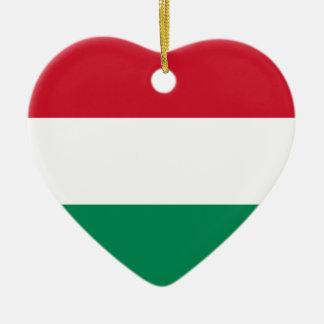 Ungarn-Flaggen-Herz-Verzierung Weinachtsornamente