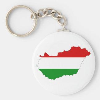 Ungarn-Landesflaggekarten-Formsymbol Schlüsselanhänger