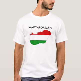 Ungarn-Landesflaggekarten-Formsymbol T-Shirt