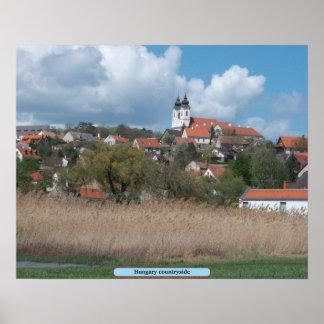 Ungarn-Landschaft Poster