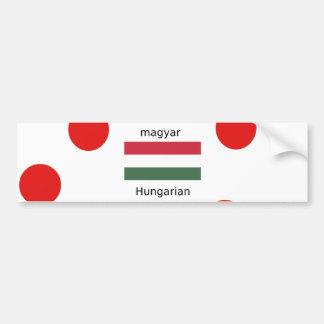 Ungarn-Sprache und Flaggen-Entwurf Autoaufkleber